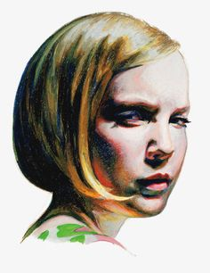Mercedes Helnwein, 2010,  large scale drawing