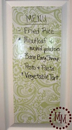 Dry Erase for Kitchen Pantry
