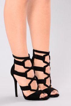 bab76927e7cc Kory Heel - Black. Open Toe High Heels ...