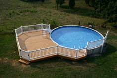 putting aboveground pool in the ground | Above Ground Pool Decks in Irregular Shape : Simple Above Ground Pool ...