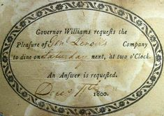House Party Invitations from the 1800 to 1820 - Google Search