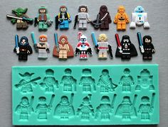 Silicone Mould Lego Star Wars Characters set Cake Decorating Fondant / fimo mold #Bestmoulds