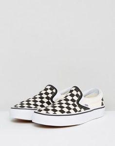 d60129330c Vans Classic slip on sneakers in checkerboard