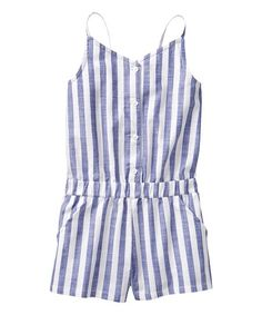 35dfc3c3179d Crazy 8 Chambray Stripe Woven Romper - Toddler   Girls