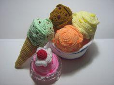 Ice Cream Crochet Pattern Dessert Crochet Pattern Food Crochet Pattern Ice Cream Galore.