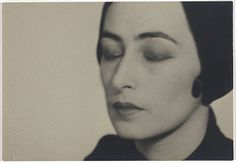 Man Ray woman with closed eyes 1928