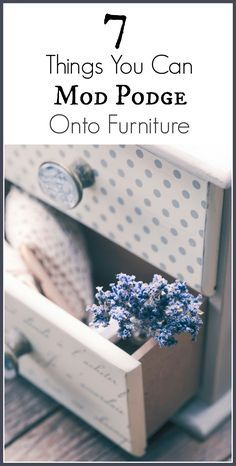 There are lots of ways that you can use Mod Podge to create character with your painted furniture piece. Here are some of the things you can do with Mod …