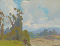 """American Legacy Fine Arts presents """"Eucalyptus, Silhouette"""" a painting by Marion Kavanagh Wachtel (1876-1954)."""