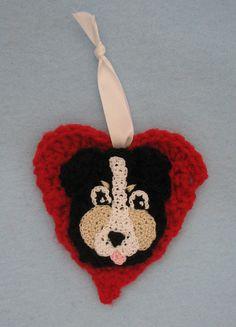 Heart Berense Mountain Dog Ornament by DonnasCrochetDesigns