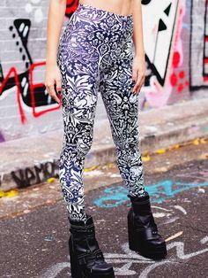 Brer Rabbit Black HWMF Leggings (WW $75AUD / US $60USD) by Black Milk Clothing