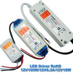 1 stks 12 V 6.3A 72 W Voeding AC/DC Led Driver Adapter Transformator Schakelaar voor LED Strip RGB plafond gloeilamp, gratis verzending