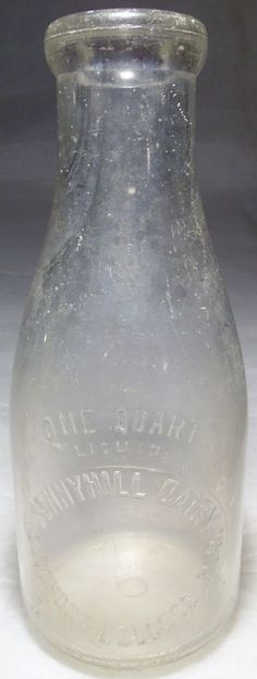 SUNNY HILL / SUNNYHILL DAIRY Early QUART MILK BOTTLE GUILFORD COLLEGE, NC