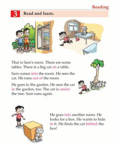 English Lesson Grade 1 Where Is The Cat? English Grammar For Kids, English Stories For Kids, Learning English For Kids, English Worksheets For Kids, English Story, English Lessons For Kids, Learn English Words, English Vocabulary, English Writing Skills