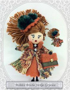 Broches de muñeca Jackie Goyesca / Broches Moñitas - Artesanio