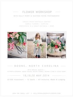 Hands-on floral design workshop from Philosophy Flowers and Heather Payne Photography