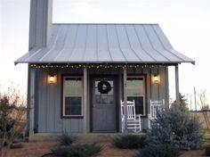little blue farm house