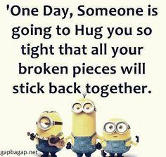 Funny Minion Joke About Hugs
