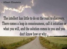 albert ainstein quotes - intellect - intuition - solution