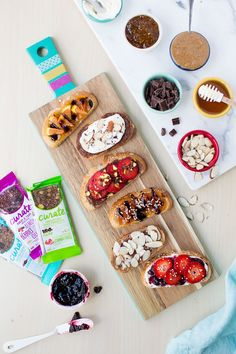 Gourmet Toast 6 different Ways! Featuring brilliant flavor combinations and simple to make recipes. These are perfect for an easy and delicious breakfast or snack.