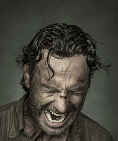 Andrew Lincoln as Rick Grimes photographed by Dan Winters for Entertainment Weekly