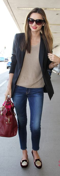 Miranda Kerr, can totally do this look; these three components work for a lot of looks