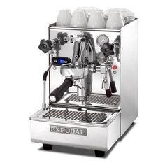 The Expobar Office Leva Dual Boiler Espresso Machine provides complete, professional-quality control over your espresso brewing in a small package. With a singl