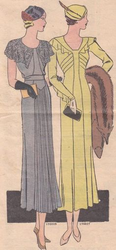 This illustration from 1933 shows the dainty size of evening bags.