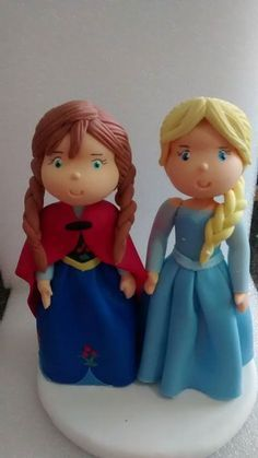 CHILDHOOD ELSA FONDANT CAKE TOPPER DIY - Google Search