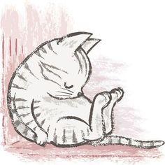 marr-tb: Drawing paintbrush-Cats by Toru Sanogawa (Pinterestから)