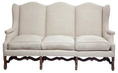 One Kings Lane - Channeling Provence - French Sofa   w/ Linen