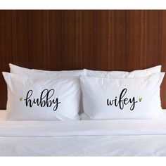 Pillowcases Gift for Newlyweds - Hubby Wifey Pillowcases Black Gold Glitter - Gift for Bride Wedding Gift Bridal Shower Gift (Item - Wedding Gifts For Newlyweds, Newlywed Gifts, Gift Wedding, Handmade Wedding, Bridal Shower Gifts, Bridal Gifts, Glitter Table Numbers, Embroidery Designs, Couple Pillowcase