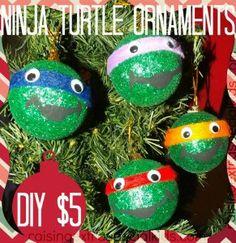 DIY Ninja Turtle Ornaments........ I freaking Love the ninja turtles!!!!
