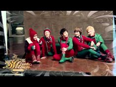 2011 SMTOWN_Santa U Are The One_Music Video.... A BIG SHOUT-OUT TO THE MAN IN THE RED SUIT!!! They all look so adorable in their Christmas outfits!!