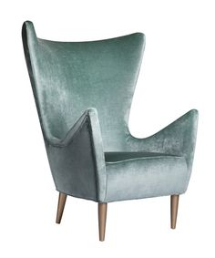 Mona Velvet Wing Chair