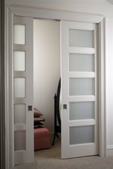 Pocket doors are more popular then ever. This blog talks about the 4 advantages to a pocket door for your home.