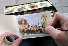 Gurney Journey: Mini Moleskine - who says you can't pack a whole lot of detail into a tiny painting