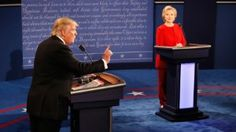 Trump complains about debate mic Donald Trump (L) speaks as Hillary Clinton (R) listens during the Presidential Debate at Hofstra University on September 26, 2016 in Hempstead, New York.