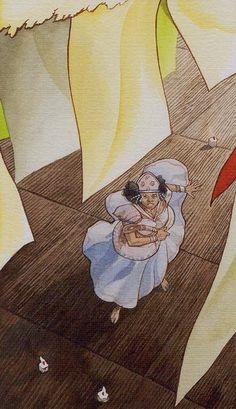 Queen of Wands  - Afro-Brazilian Tarot by Giuceppe Palumbo