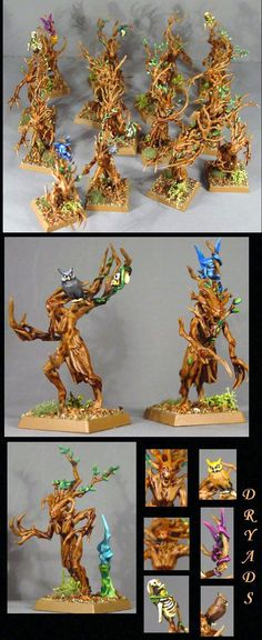 Dryad, Pro Painted, Rpg, Warhammer Fantasy, Wood Elves