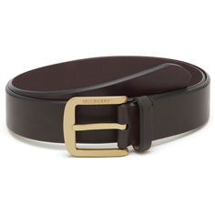 Casual Buckle Belt Chocolate Smooth Saddle ($280) ❤ liked on Polyvore featuring mens, men's accessories and men's belts