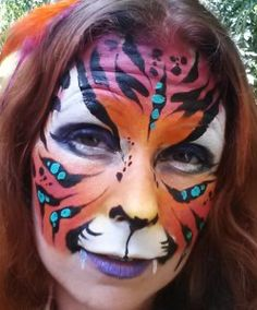 How to face paint a Mark Reid Inspired Tiger