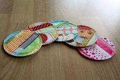 Coasters|101 Clever Sewing Projects to Upcycle Fabric Scraps