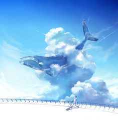 I like whales in the sky