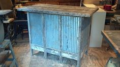 Old rustic bar made from old wood. And tin