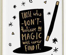A4 Magic Print - Roald Dahl Quote Print