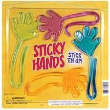 Check out Sticky Hands from Best Toys of the 90s - I remember all the crap that would get stuck to these - they were a no-go if you had pets around lol