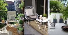 Plants and furniture. 6 Ways to Enhance a Small Outdoor Space | sheerluxe.com