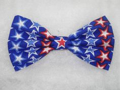 Pre-tied Bow tie Blue Denim Sprinkled with Glitter Glittering Blue Bow tie
