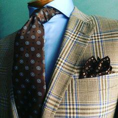On of my favorite combinations to wear. #bespoke sport coat. #neckwear. #pocketsquare