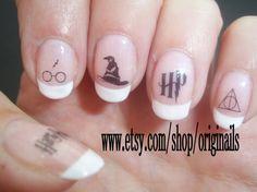 love///Harry Potter nail tattoos by originails on Etsy, £3.00